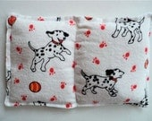 """Peppermint  Essential Oil Aroma Therapeutic Rice Pad - Hot or Cold Therapy - 5"""" wide x 8"""" long - Dog Print Flannel"""
