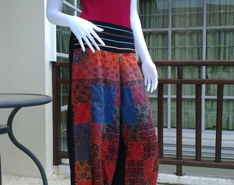 Native fabric pants from Thailand.