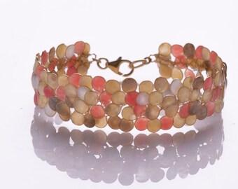 Enamel Bracelet, Colorful Bracelet, Wire Wrapped Handmade Bracelet, Statement Bracelet, Bridal Bracelet,Women Bracelet, Red bracelet, Israel