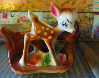 Vintage Shawnee Deer Planter, Fawn Planter, 1950's Deer Planter, Collectible Bambi, Home & Living, Home Decor, Mid-century Home Goods