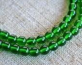 66pcs Emerald Green 6mm Preciosa Czech Pressed Glass Beads Druk Round 16in