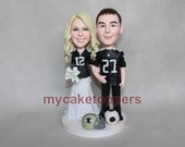 wedding Cake toppers jersey sport cake topper