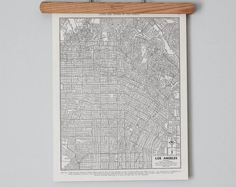 Los Angeles 1940s Map | Antique California City Map