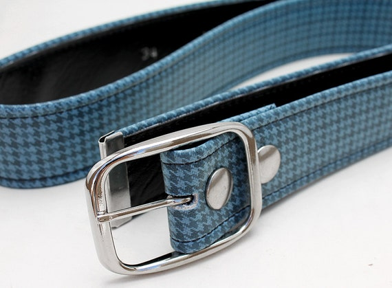 Vintage Blue GTO belt - Unisex - eco vegan friendly
