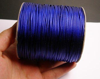 Polyester wax cord - 1.5mm - high quality - 160 meter - 524 foot - blue - full roll -  PECM3