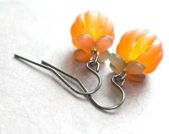 Pumpkin  Earring, Halloween Earrings,Thanksgiving jewelry, Autumn Jewelry