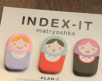 Matryoshka Doll Stickers-Index Stickers-Scrapbooking Embellishment