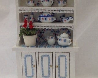 Dolls House Miniatures - 1/12th Pretty Dresser with China