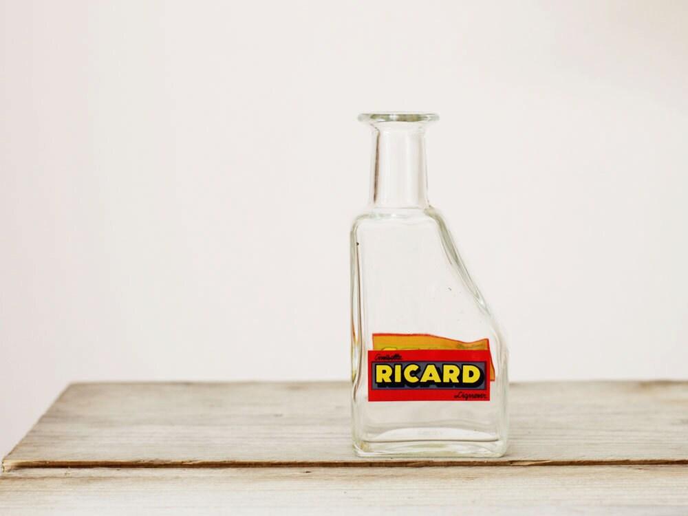 vintage carafe d 39 eau ricard pichet eau verre par frenchfind. Black Bedroom Furniture Sets. Home Design Ideas