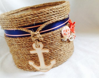 Nautical Wedding Gift Card Holder : Wedding Card Holder Beach or Nautical Theme Event by ChiKaPea