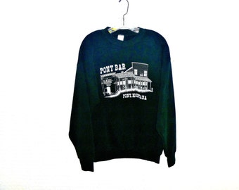 Pony Bar Vintage 80's Graphic Sweatshirt in Forest Green Men's XL