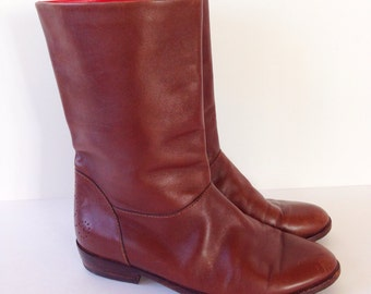 Gucci Brown Leather Short Riding Boot Size 6 Women's