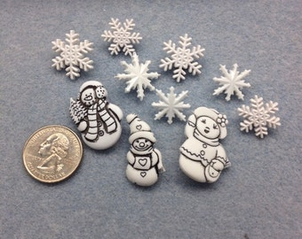 Snow Family Buttons