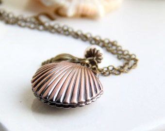 Conch Shell Locket Necklace