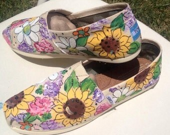 Hand painted Floral Toms
