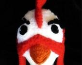 Camilla the Chicken , Photo Prop, Handmade Crochet Hat Beanie