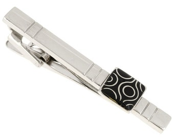 Antique Black Pattern Tie Clip 1800086