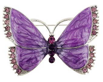 Purple Butterfly Pin Brooch 1000342