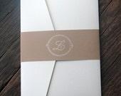 Simple and Elegant Monogram Wedding Invitation
