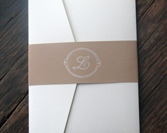 Simple and Elegant Monogram Wedding Invitation