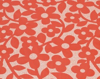 """LAMINATED Cotton  - Dotted Flower, 56"""" Wide, BPA & PVC Free"""