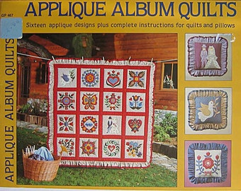 Appliqué Album Quilts Book By Sandra Sigal and Melanie Fabian GP467