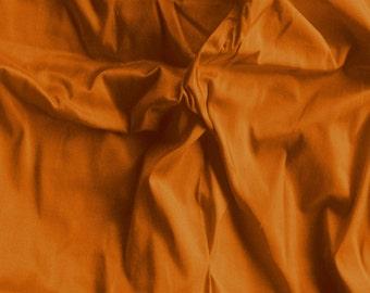 silk dupioni fabric - rust 100% pure silk - 1 yard sld153