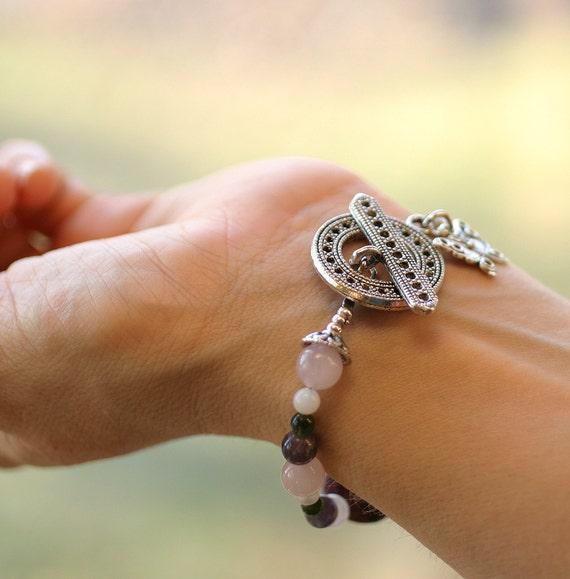 Organic Fertility Bracelet, Miscarriage, Pregnancy, Motherhood, Infertility, Bridal Gift, Crystals and Stones, Gemstones TTC