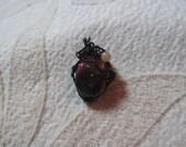 Mookaite, Jasper Pendant, Healing Stones Pendant, Aventurine, Garnet, Stretchy, Gemstone Synergy, Necklace,  Synchronicity, Serendipity