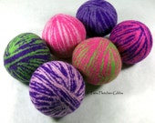 Wool Dryer Balls - Mondo Rad Swirl - Set of 6 Eco Friendly - Can be Scented or Unscented