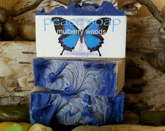 mulberry woods peace soap