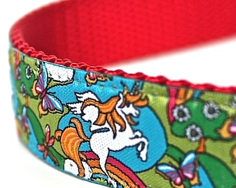 Unicorn Dog Collar,  Ribbon Dog Collar,  Adjustable Dog Collar