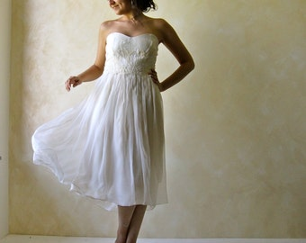 Wedding Dress, Short Wedding Dress, Reception dress, Tea length wedding dress, Alternative Wedding Dress, Reharsal dress, Boho Wedding dress