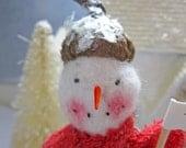 Snowmen Primitive Folk Art Handmade