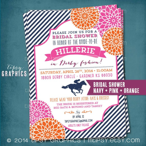 Kentucky derby birthday or bridal shower party invitation stripes il570xn filmwisefo
