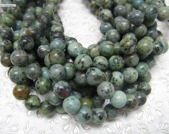 32 pcs 12mm round smooth African turquoise beads