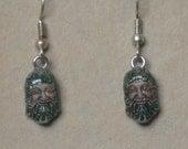 Hand Painted Greenman Earrings