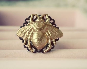 Gothic Bee Ring