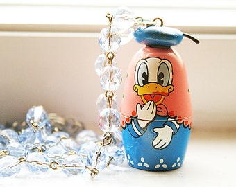 Donald Duck Trinket container necklace