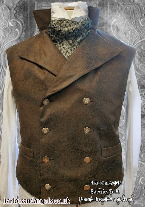 Men's Steampunk Clothing, Costumes, Fashion Sweeney Todd Style Waistcoat Sewing pattern. Steampunk Gothic wedding instant Pdf download $12.00 AT vintagedancer.com