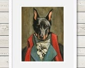 Beauceron Art - Beauceron Houdon Painting - Dog Art - Beauceron portrait, dog portrait, dog painting