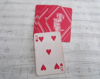 Vintage Miniature Dog Playing Cards- Set of 10