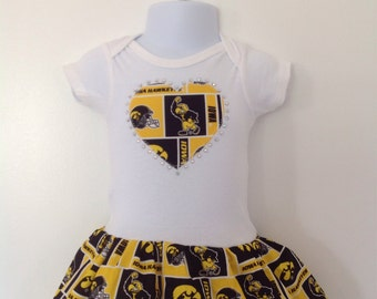University of Iowa Inspired Infant Dress