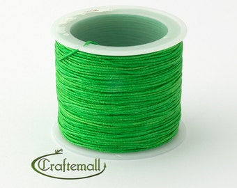 Green nylon cord - 1mm nylon cord - 1 roll (35meters)