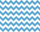 Small Medium Blue Chevron 100% Cotton Riley Blake Fabric 1/4 1/2 3/4 and Yard Sewing/ Quilting/ Crafting/ Embroidery/ Applique Sewing