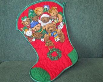 Christmas Stocking ATeddy Bear's Christmas