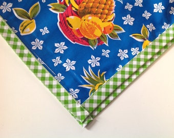 Square Pineapple Blue Tablecloth or Splat Mat