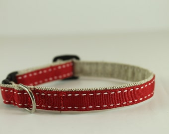 "Dressed in Red Organic Cotton 1/2"" collar"
