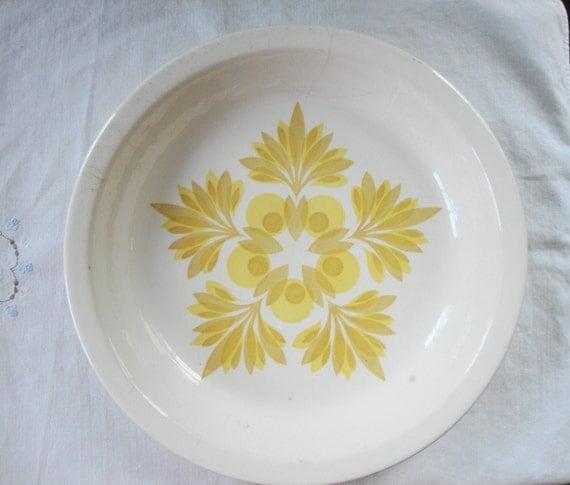 Mid Century Usa Pottery Pie Plate Vintage Baker Pie Baker