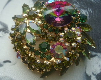 DeLizza and Elster a/k/a Juliana Watermelon Rivoli Tiered Brooch (Book Piece)
